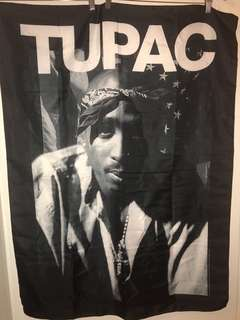 Tupac fabric poster