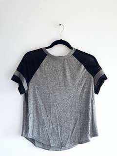 Grey Mesh Top Size M