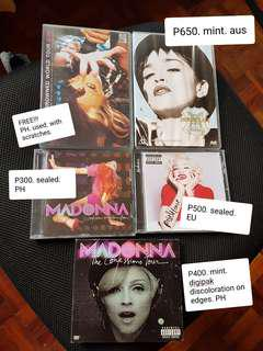 Madonna CD DVD Confessions Immaculate Drowned Rebel Heart
