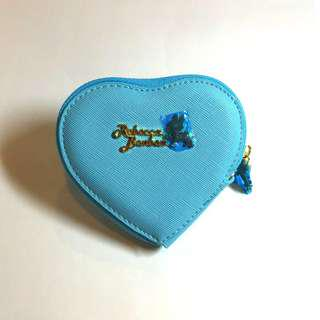 【免運費】正版日本 RebaccaBonbon狗頭包—巴黎時光(水晶藍)愛心零錢包