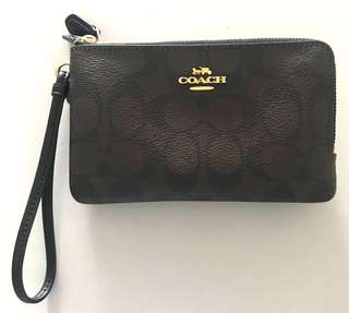 Coach Double Zip Wristlet (further reduced)