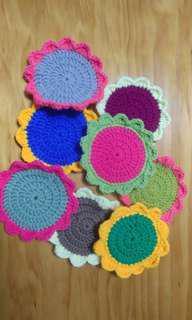 ***GIFT** Handmade Crochet flowers coaster