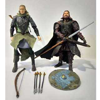 Legolas and Hama Royal Guard of Rohan - Lord of the Rings (LOTR) figures for sale