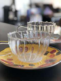 CLEAR CUP AND COASTERS