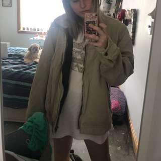Tan camel cream winter jacket coat