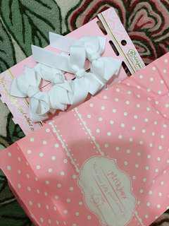 Korean White Ribbon Clips (similar to what Anne Curtis' using in Showtime)