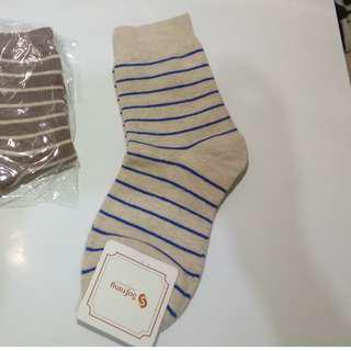 Shades of Brown Striped Socks