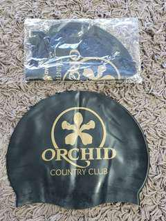 Brand New Orchid Country Club Swim Caps