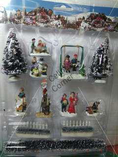 Christmas Village Accessories set#2