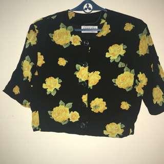 Yellow flower prints