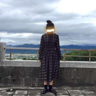 🚚 韓妞必備圖騰洋裝(實拍!實拍!)