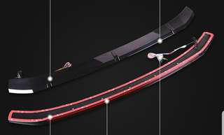 Mazda 3 roof spoiler with running led