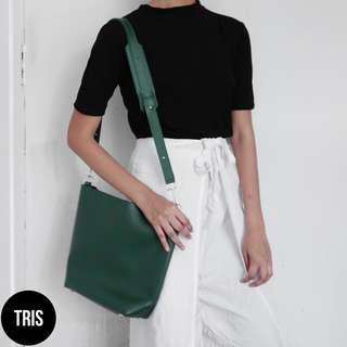 MINISO GREEN SLING BAG
