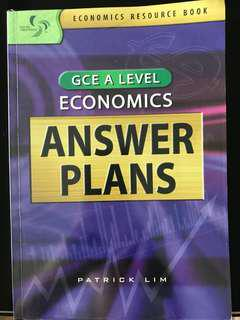 GCE A level economics answers plan