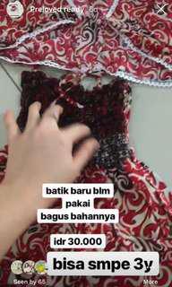 Dress bolero batik