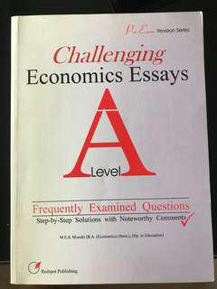 Challenging A level economics essay