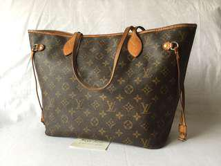 Authentic LV neverfull MM Mono fair condition