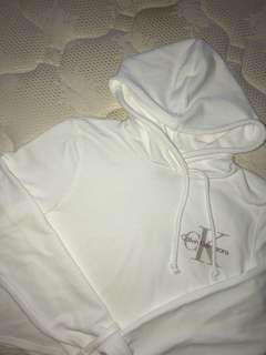 Brand New Calvin Klein Cropped Hoodie