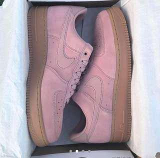 Gum/Pink Coloured Nike Air Force 1