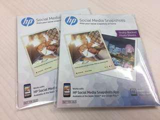 HP sticky backed photo sheets