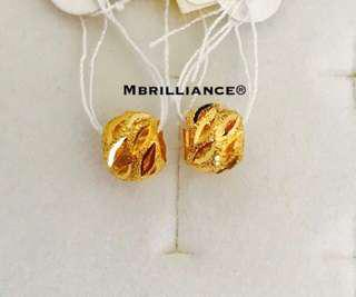 Identical twin Loop pendants  916 Gold by Mbrilliance