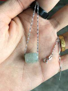 🚚 Jadeite Pendant with S925 Silver Necklace
