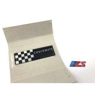 Mini Cooper R50 R53 Side Window Sticker (Checkmate)