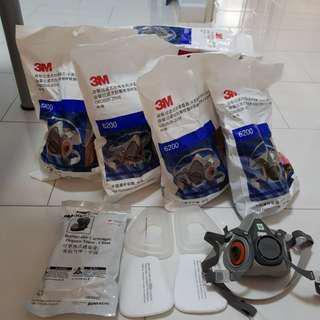 🚚 3M Respiratory Mask - Full set