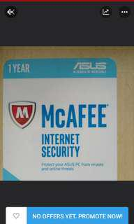 Unbox McAFEE Internet Security