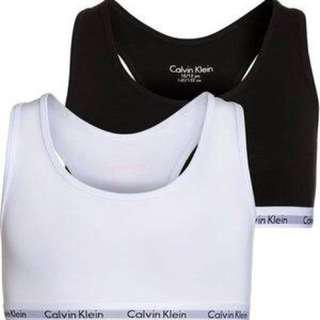 Authentic Black and Grey Calvin Klein Crop Top