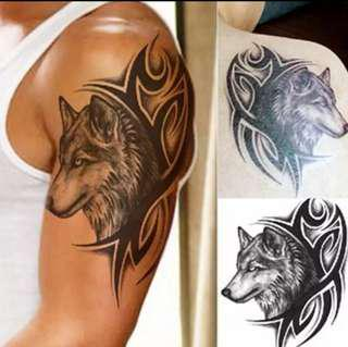 Waterproof Temporary Tattoo sticker men women wolf tattoo flash tattoo Temporary Sexy thigh tatto