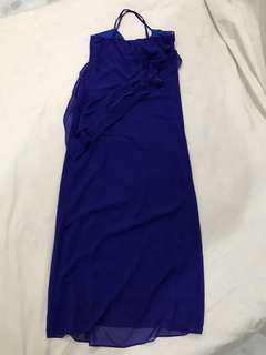 Navy chiffon Long dress