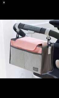 嬰兒車 置物袋  配埋揹帶可側揹斜揹 $50