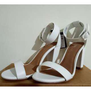 High Heels Rubi (White/Putih) - BARU + BONUS Kotak Sepatu