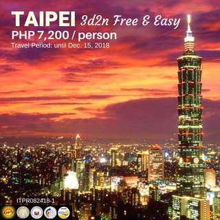 3D2N Taipei Free and Easy