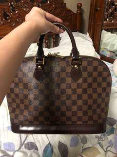 Louis Vuitton Alma Damier ebene LV bag