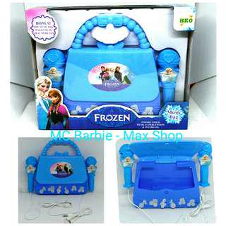Mainan Microphone Music Bag Frozen dan Hello Kitty