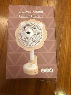 鬆餅師夾式電風扇