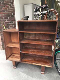 Retro solid wood teak display shelf FREE