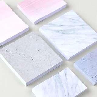 自然大理石紋 便利貼 便條紙
