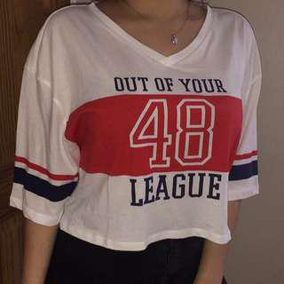 'Out of your 48 League' Cropped top by H&M