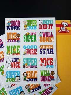 [INSTOCK] BN Snoopy & Peanuts Reward/Merit Stickers (Eureka School)