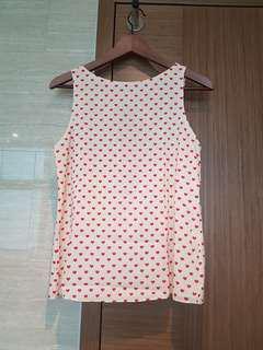 Alice + olivia heart print blouse