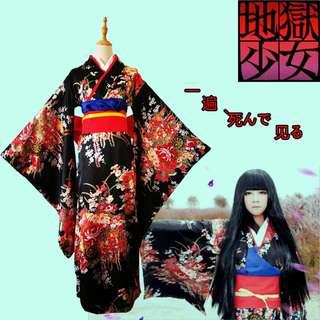 Brand new Japanese Kimono Anime Cosplay Ai Enma Hell Girl (Jigoku Shoujo)