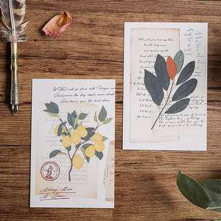 (PO) Floral Letters Postcards/ Post Cards
