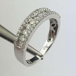18K白金戒指 68份鑽石 18K Withe gold Ring 0.68ct Diamond
