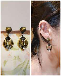 🚚 祖母的百寶箱🎀夾式耳環🎀復古 古着 古董 老物