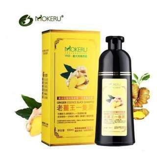 Mokeru Shampoo Hair Black Essence Ginger Dye 500ml