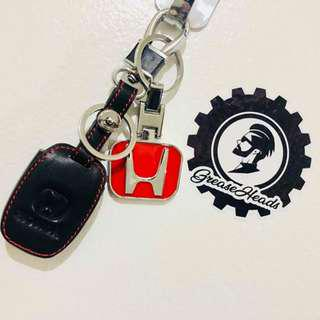 Honda Civic/City/Jazz/Mobilio/CRV Leather Key Cover Black