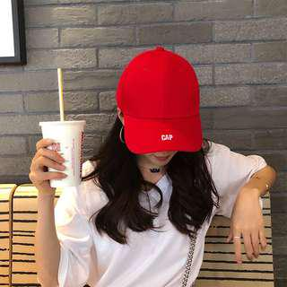 [CLEARING] RED ULZZANG 'GAP' Hat